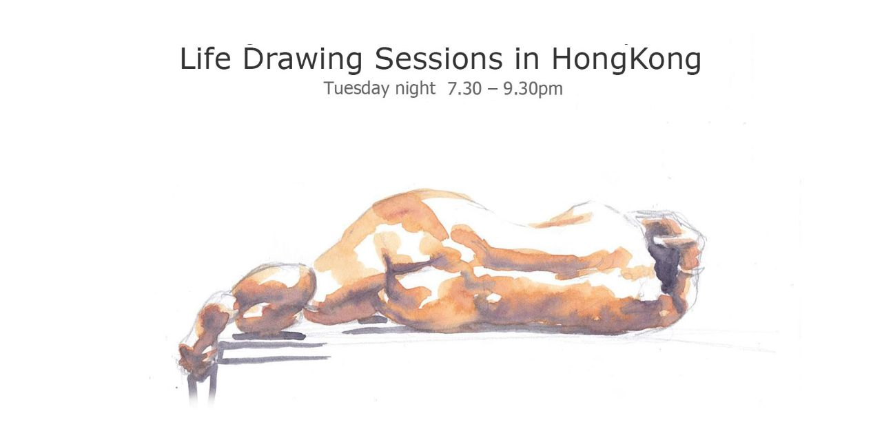 life drawing in Hong Kong, open session workshop